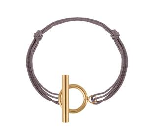 bracelet cordon taupe l'atelier d'Amaya