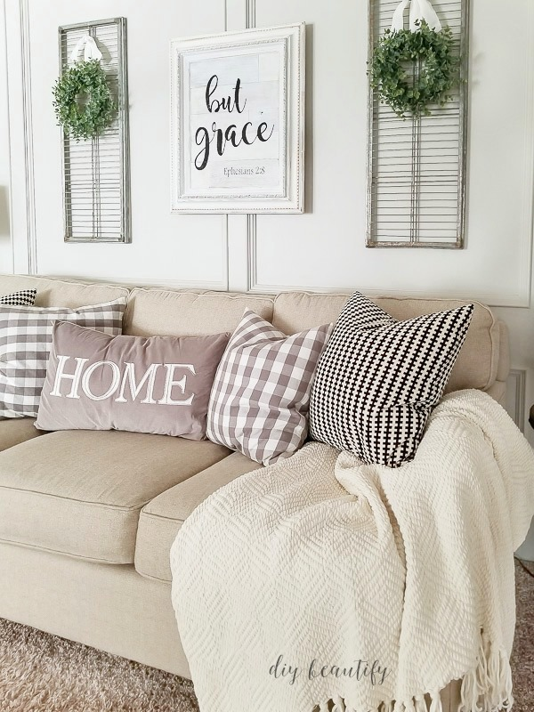 shopping the house for new pillows | diy beautify