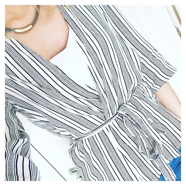 new look stripe kimono top