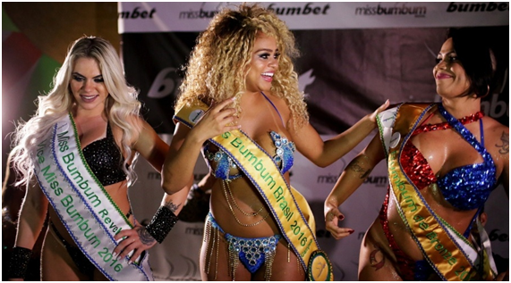 Erika Canela Bahia representative wins Miss Butt 2016