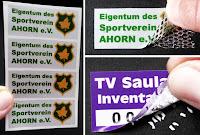 Siegel Aufkleber mit Übertragungsschutz