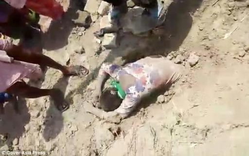 INHUMANE : 19-yr-old Indian girl rescued after businessman buried her alive for 2 hours over a family property dispute