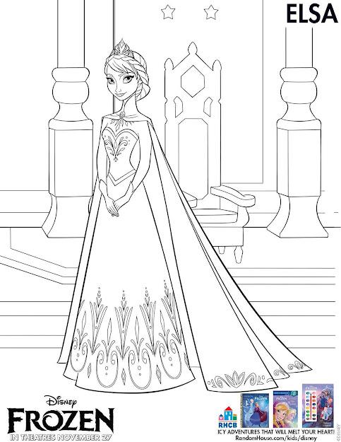Elsa Coloring Sheet