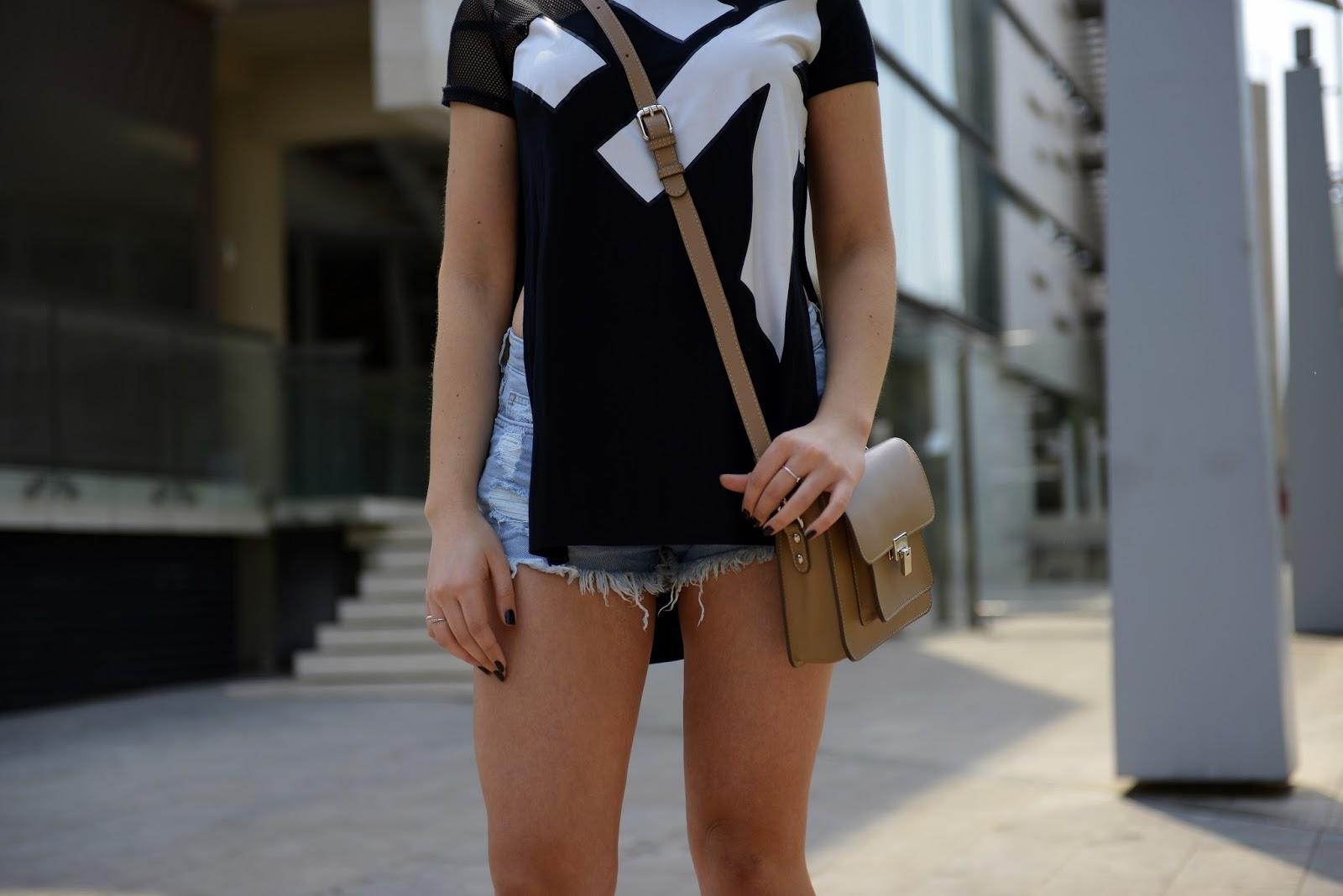 Side slits split maxi T shirt