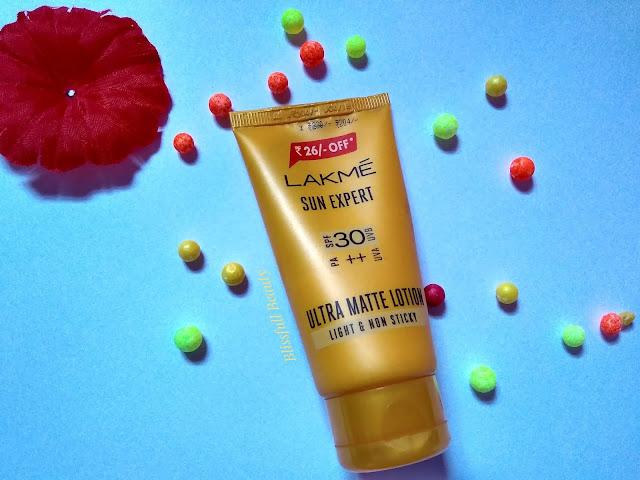Lakme sun expert SPF 30 PA++ UVA UVB ultra matte lotion Review