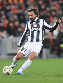 Pirlo won three Serie A titles with Juventus
