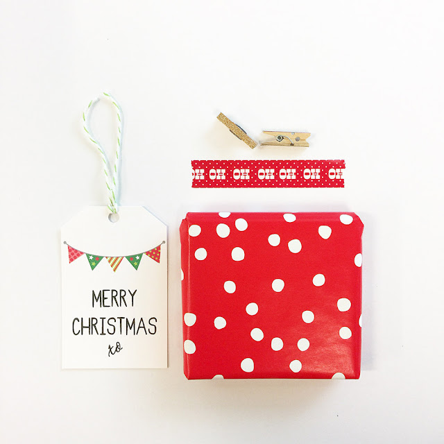 Free Printable Christmas Gift Tags by Mum and Me Handmade Designs.