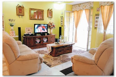 kombinasi warna cat ruang tamu rumah minimalis