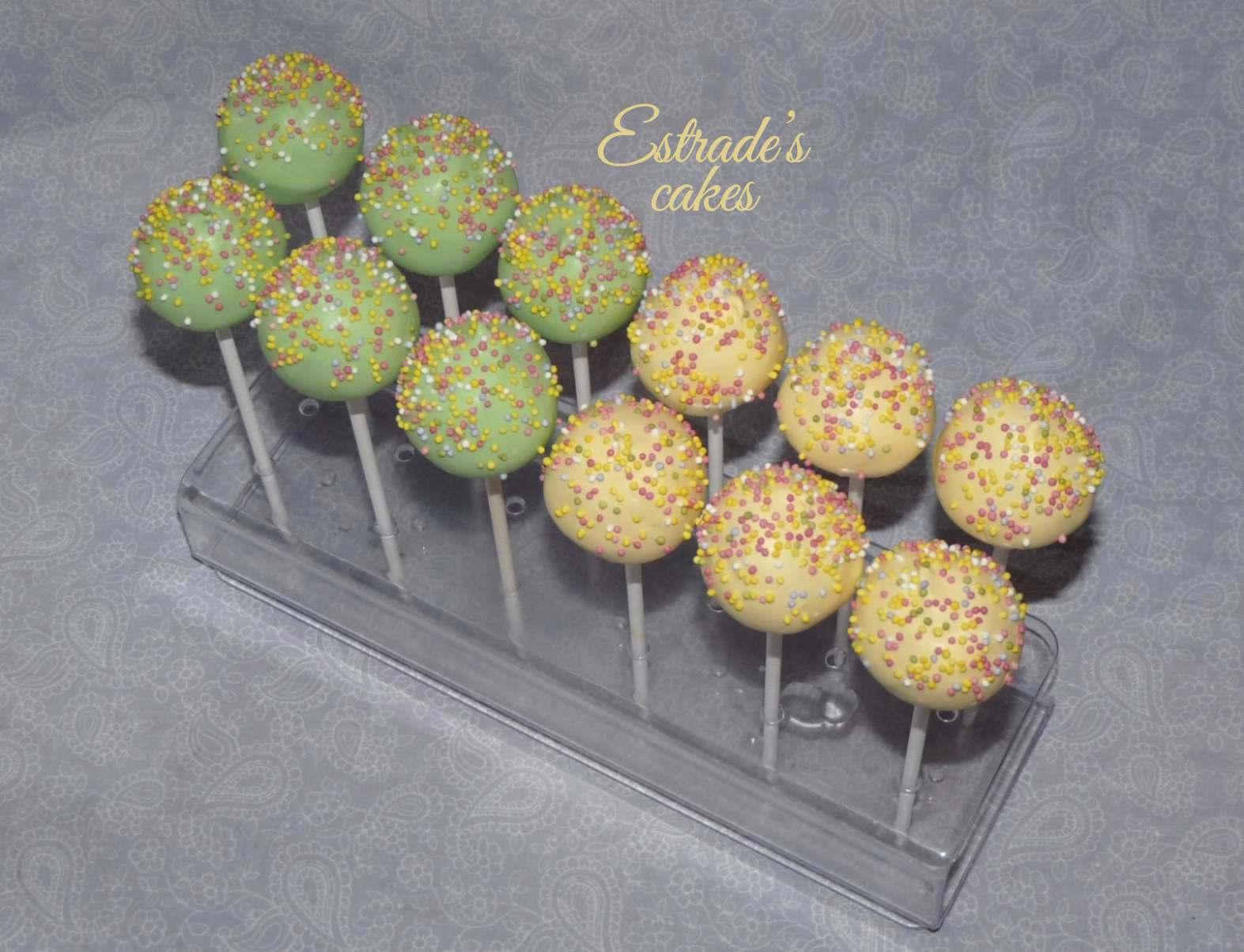 cake pops verde y amarillo - 2