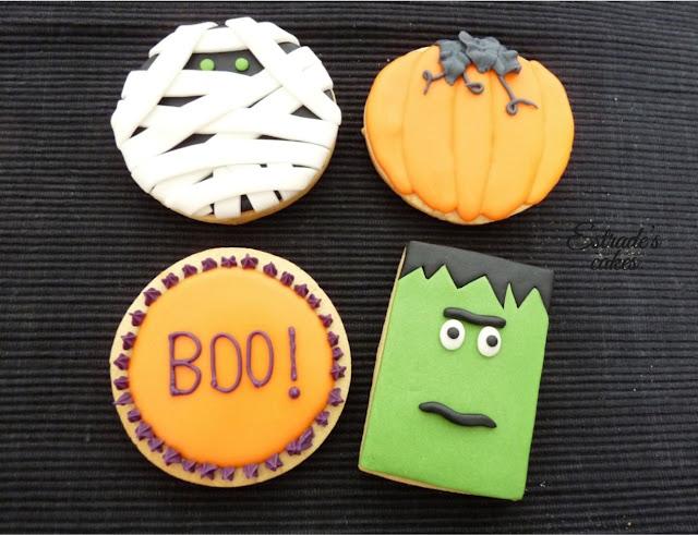galletas de Halloween con fondant y glasa - 1