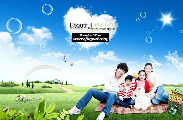 free psd download : Family central park