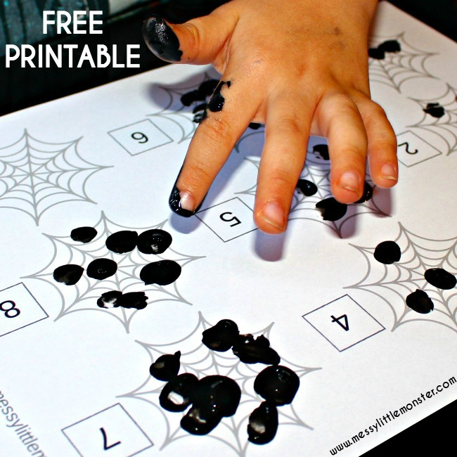 spiders web fingerprint counting messy little monster