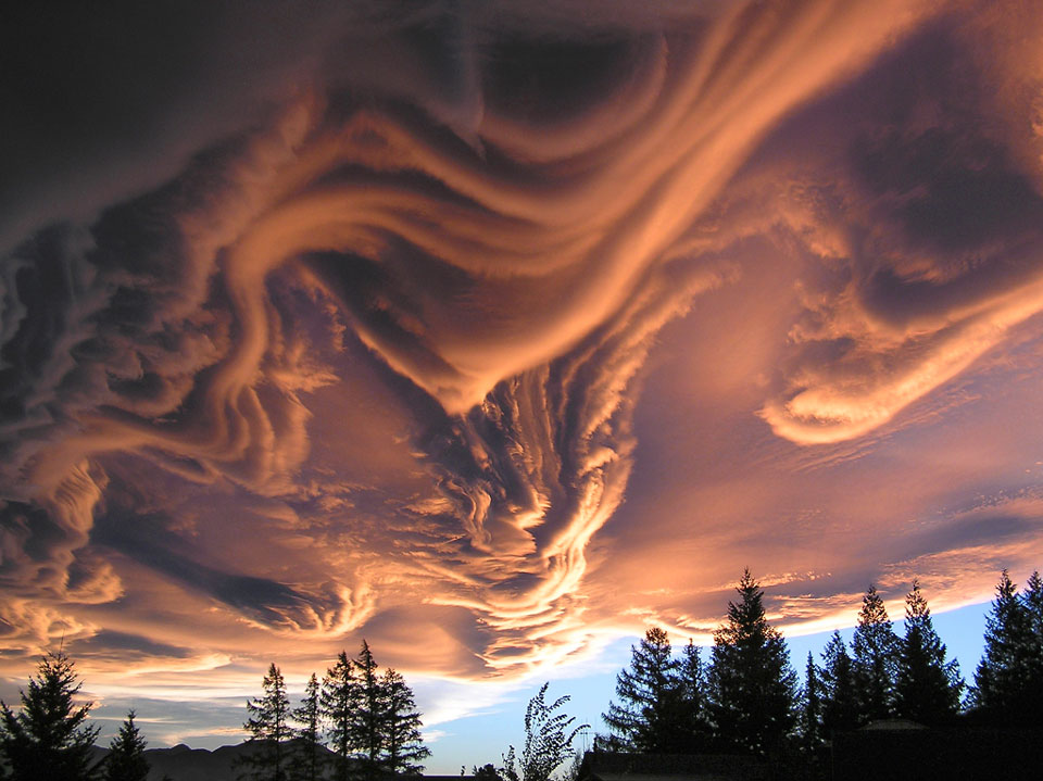 Asperatus Clouds Over New Zealand by Witta Priester