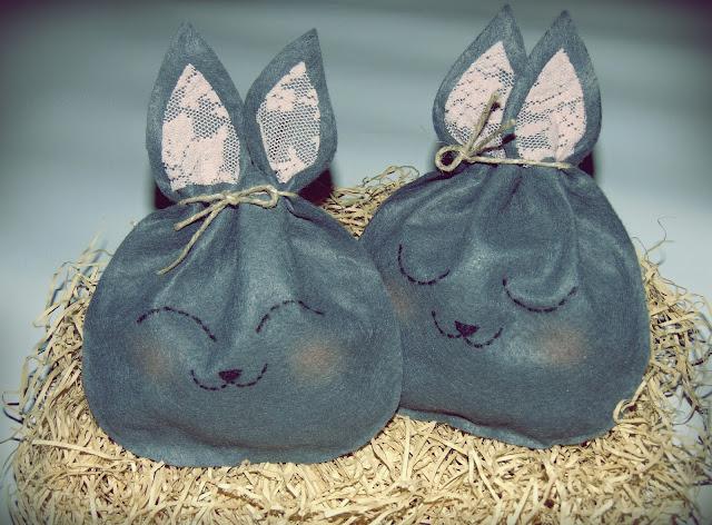 wielkanocne króliczki - woreczki na cukierki