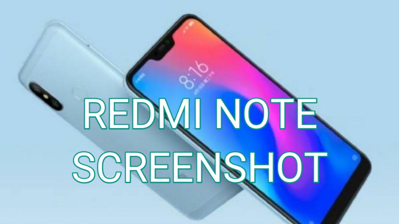 Cara Screenshot Xiaomi Redmi Note 7 dan Note 7 Pro