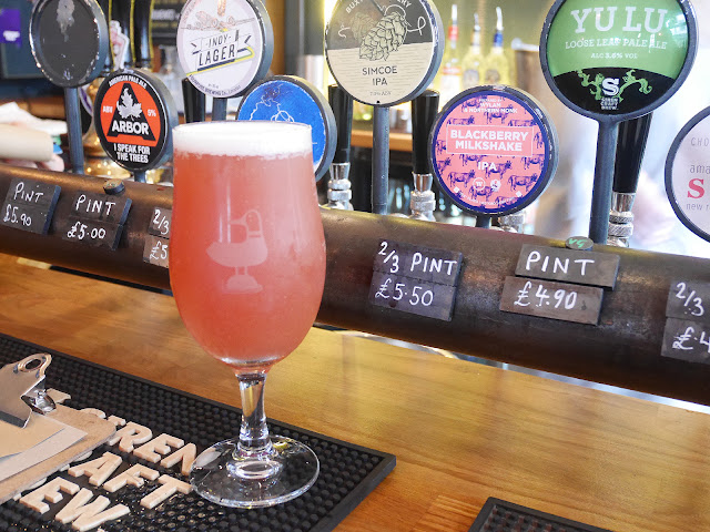 Blackberry milkshake IPA craft beer at the Pond Brighton
