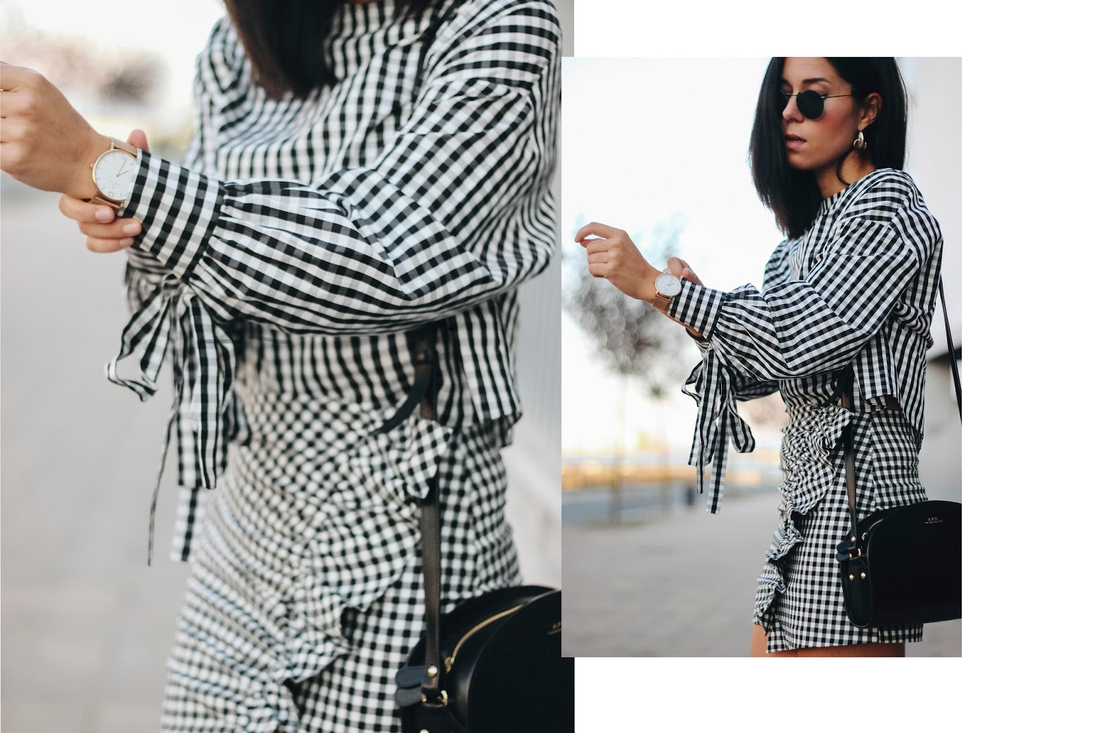 SQUARES AND RUFFLES TOTAL ZARA LOOK