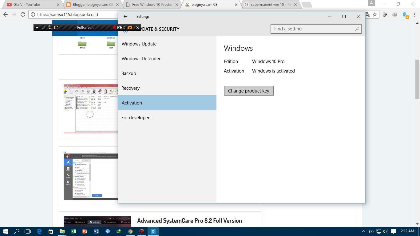 cara  product key windows 10
