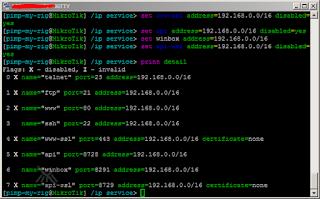 Mikrotik Router Default Services