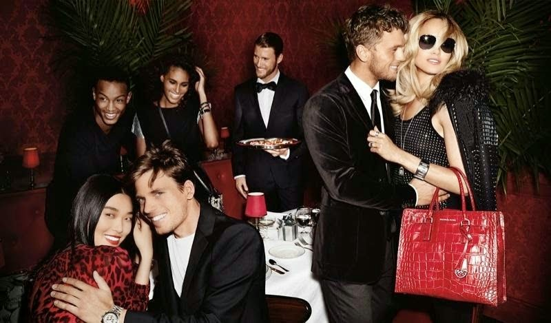 Karmen Pedaru goes glamorous for the Michael Kors Holiday 2014 Campaign