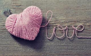 Pink thread bundle in heart shape