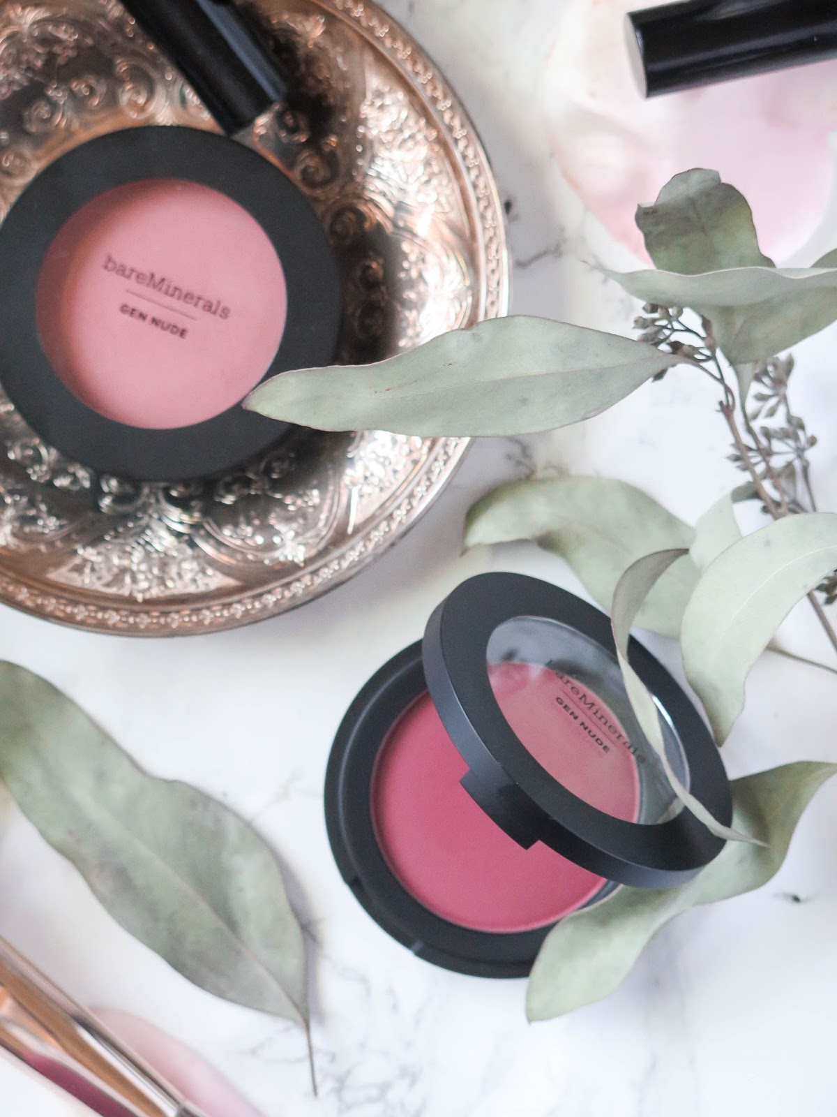 Naturally Nude | BareMinerals GenNude Powder Blushes & Patent Lip Lacquers | Review & Swatches | labellesirene_