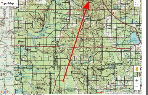 topo map from Pine Valley Pathway to Briar Hill