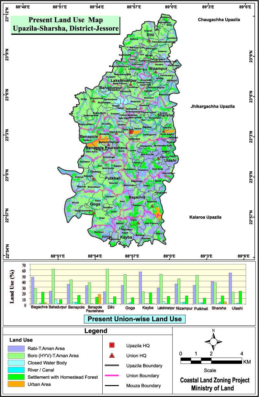 Sharsha Upazila Mouza Map Jessore District Bangladesh