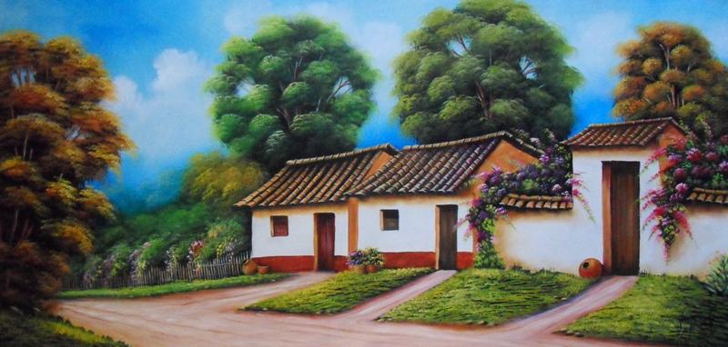 Cuadros modernos pinturas y dibujos 12 27 12 - Paisajes de casas ...