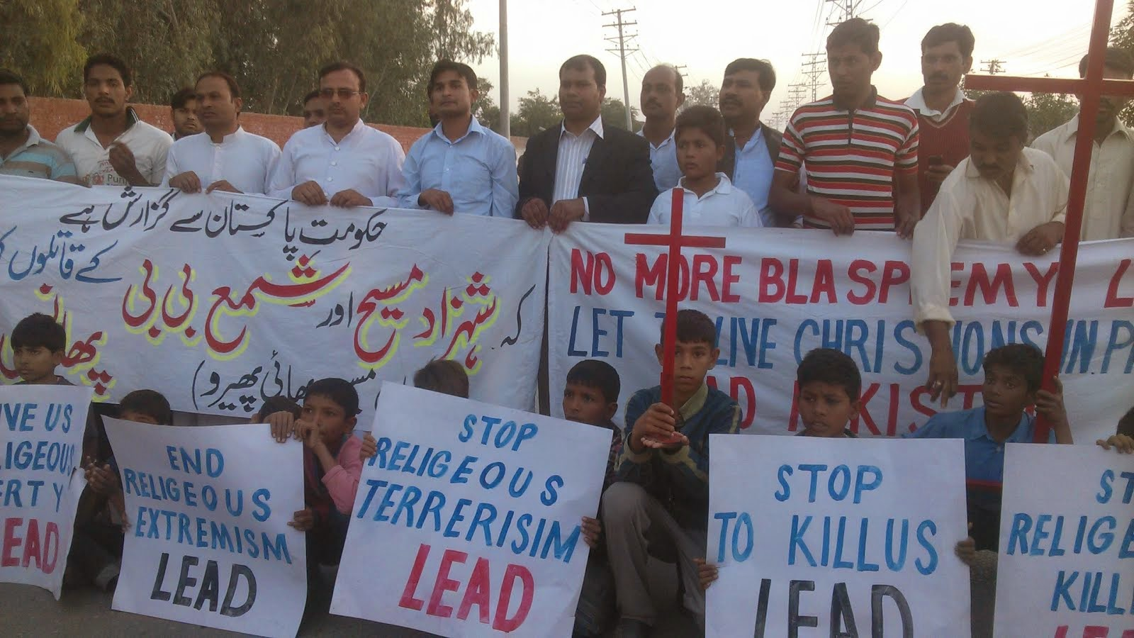 LEAD's Protest over alive burning of Christian Couple