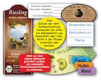 DIN A4 Bogenetiketten für wasserablösbare Etiketten