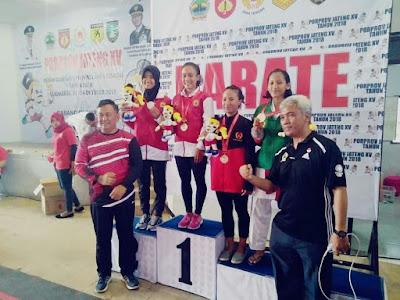 mahasiswa unitri , Senia Agustina Raih Juara 1 Dalam Kejuaraan Karate Proprov Jawa Tengah Ke-15