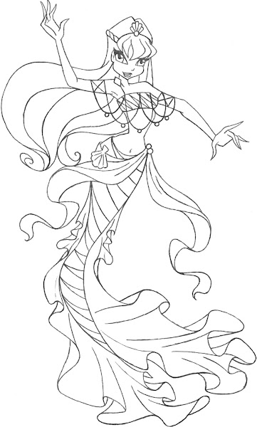 winx club bloomix coloring pages bloom | Winx Club Bloom Bloomix Coloring Pages – Colorings.net