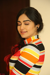 Adha Sharma in a Cute Colorful Jumpsuit Styled By Manasi Aggarwal Promoting movie Commando 2 (109).JPG