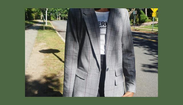 target style plaid blazer