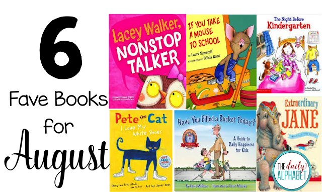 6 great books to read for the month of August. These books cover everything from colors and sight words to character education, classroom management and comprehension!
