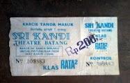 Karcis Bioskop Srikandi Batang