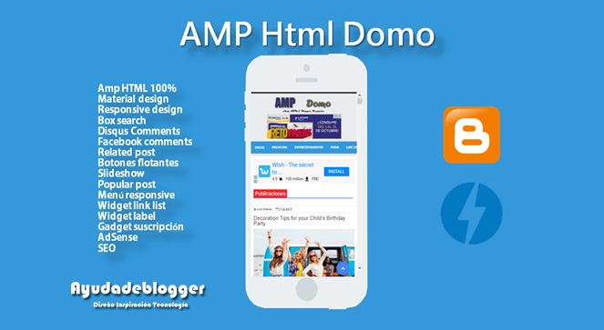 Template Blogger Amp HTML Domo