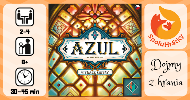 recenzia hry Azul vitráže Sintry na blogu www.spoluhratky.eu