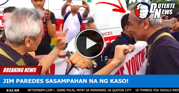 "Jim Paredes Sasampahan Na Ng Kasong ""Unjust Vexation"" From Duterte Youth"