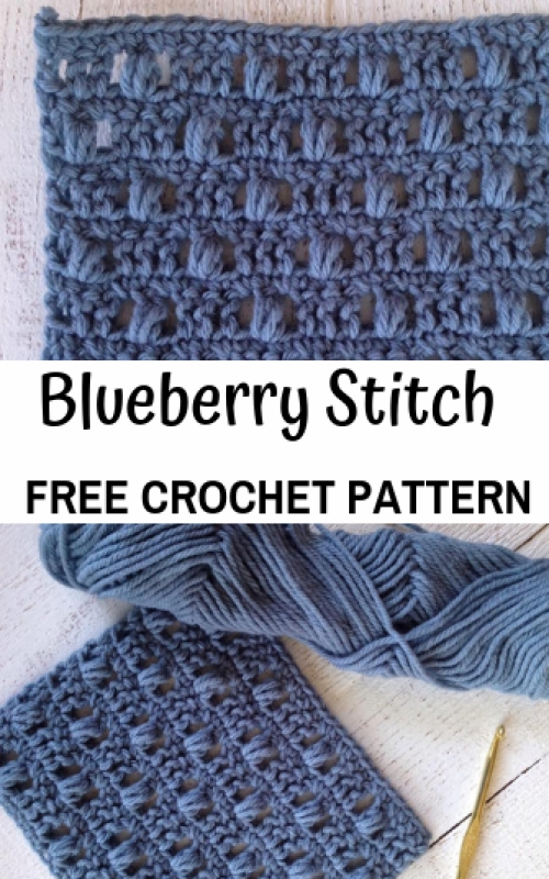 Blueberry Stitch - Free Pattern