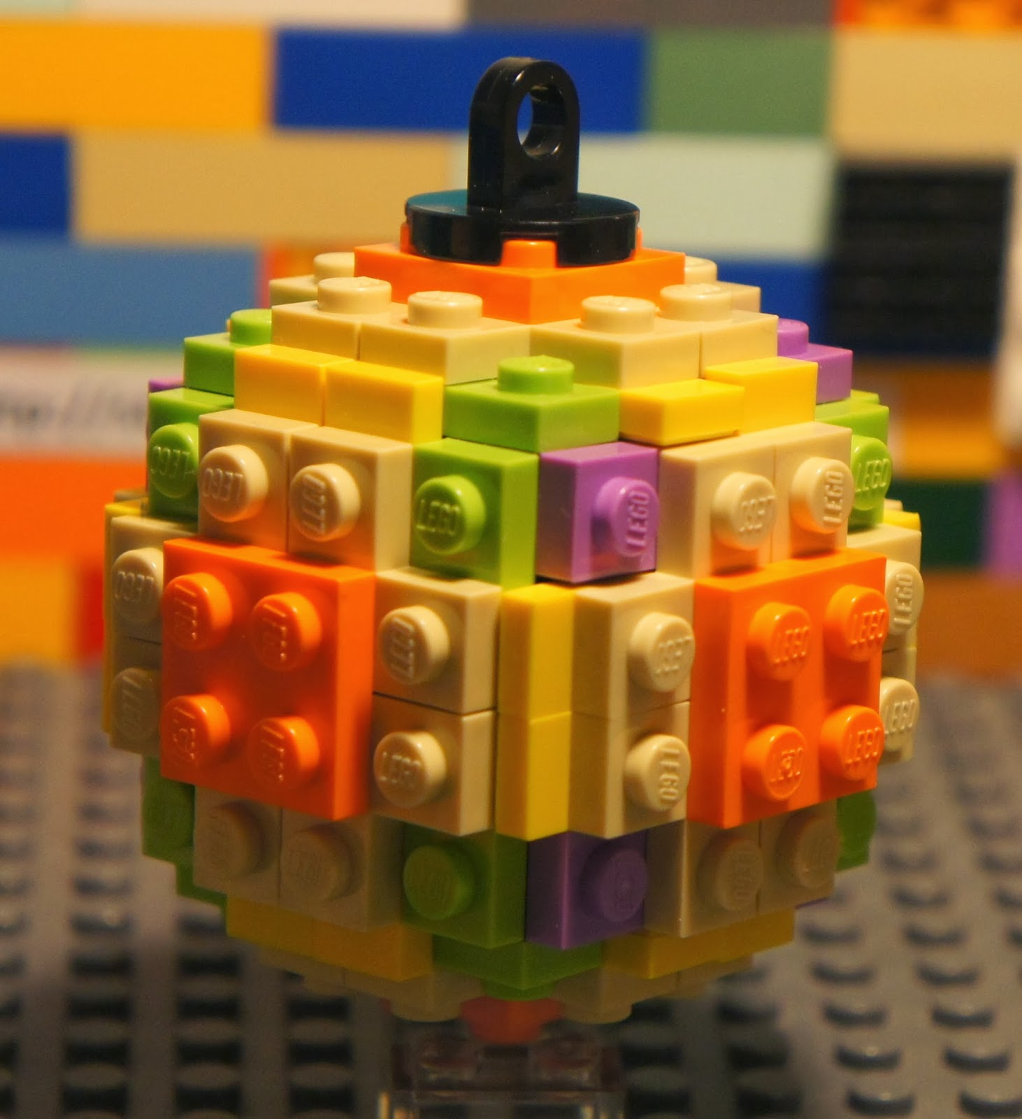 Lego Christmas Balls Holiday Tree Ornament Decor Hard To