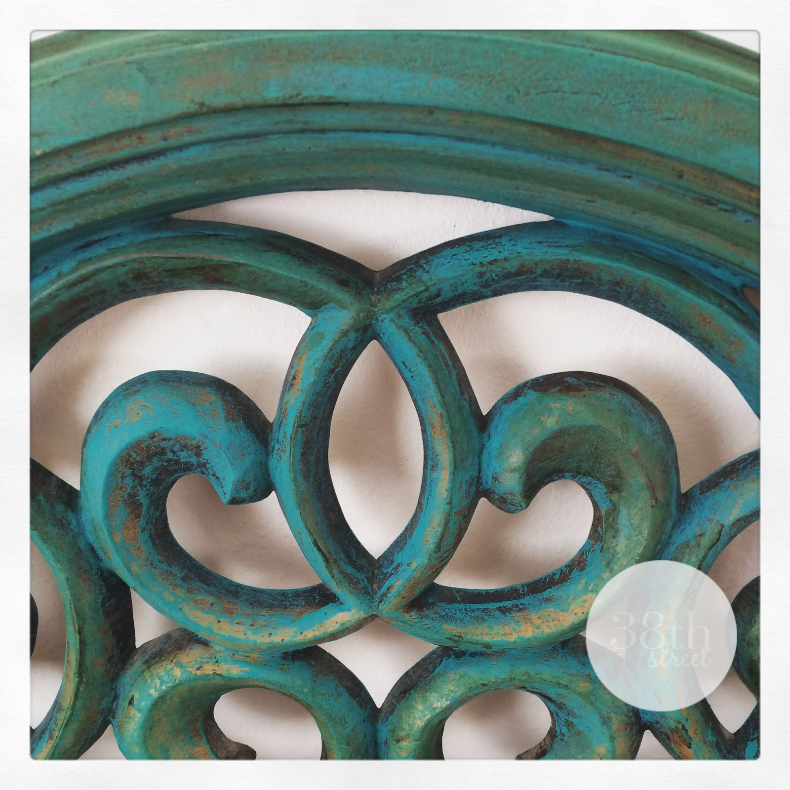 turquoise, reverse distressing, diy, painted mirror, chalk paint, annie sloan, florence