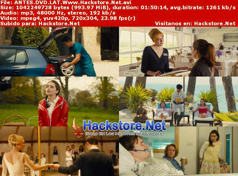 Capturas de Yo antes de ti (2016) DVDRip Latino