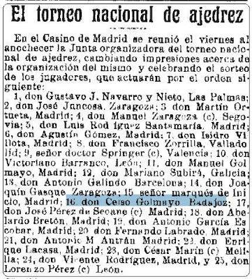 Recorte de La Época del 9 de mayo de 1921