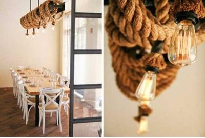 Lampu hias dari tali rami