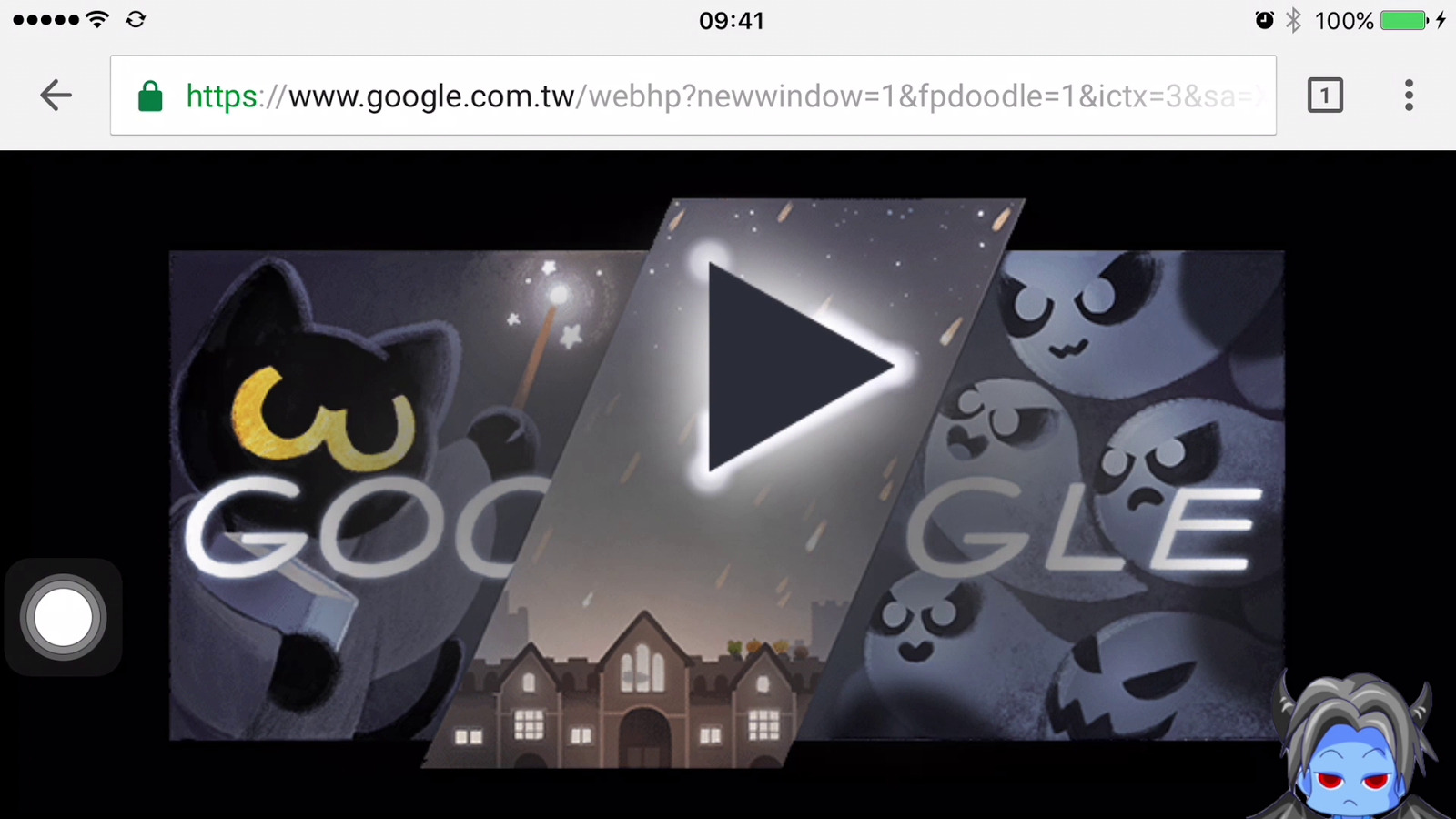 藍色小惡魔 - Pokemon 抓寶人生: Halloween Google Doodle Game 萬聖節網頁遊戲