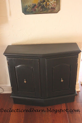 Eclectic Red Barn: Painted Black Entry Cabinet
