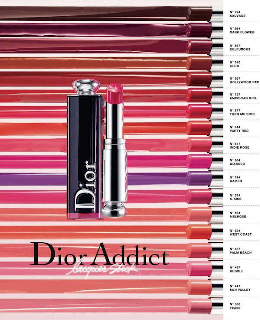 DIOR Addict Lacquer Stick colors