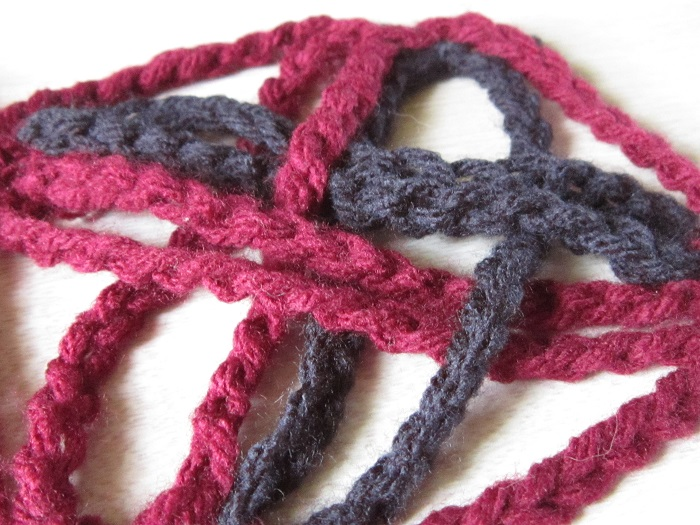 scarf, crochet, WIP